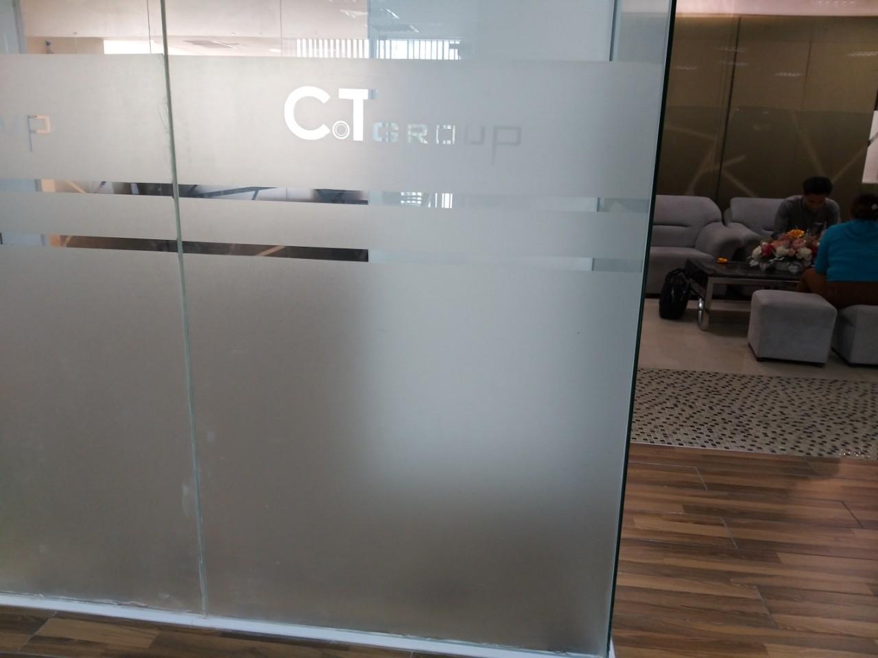 Dán cửa kính cho công ty CT Group