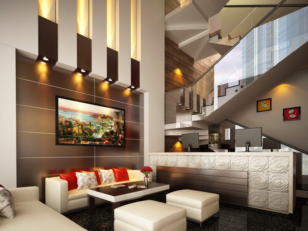 Căn phòng được thiết kế sang trọng, hiện đại