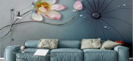 Có nên dùng tranh dán tường trang trí phòng khách hay không?