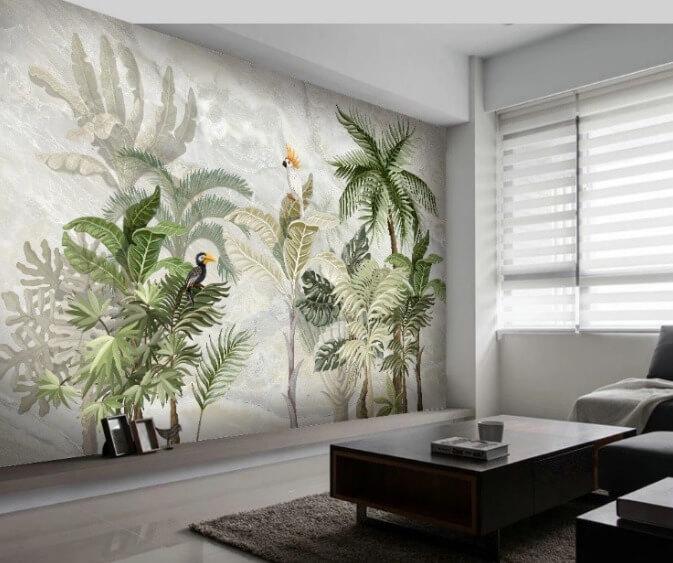 Giấy 3D dán tường là vật liệu trang trí nội thất chất lượng