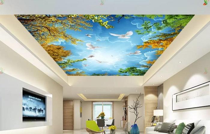 Mẹo chọn tranh dán trần 3D phù hợp với không gian nội thất