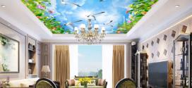 Mẹo chọn mẫu tranh dán trần 3D phù hợp với không gian và nội thất