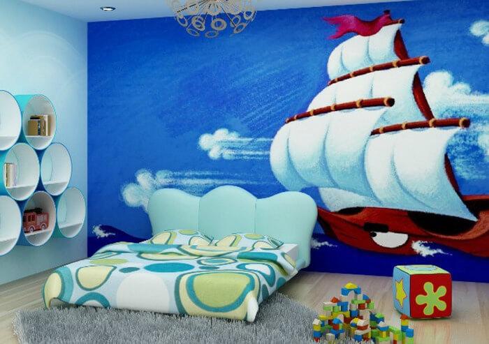 Tranh 3D dán tường phòng ngủ cho bé