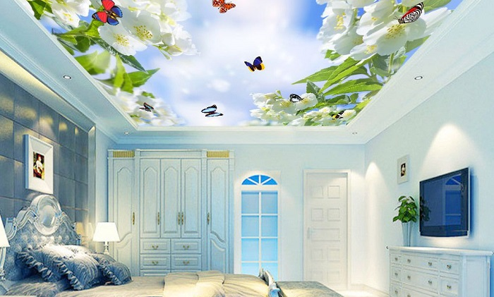 Tranh thiên nhiên xuyên sáng trang trí phòng ngủ