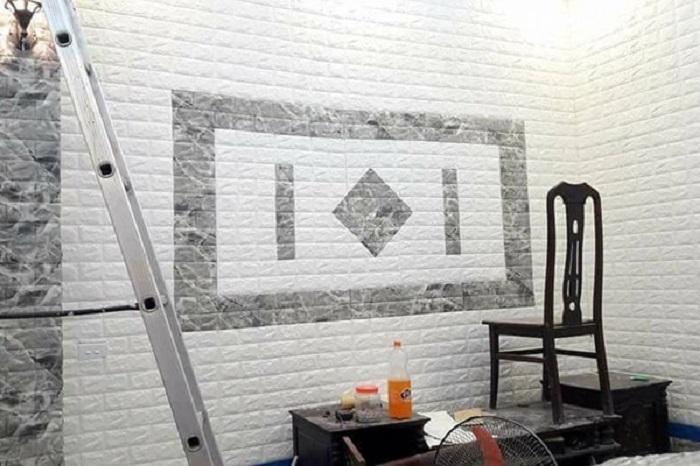 Giấy dán tường được ứng dụng khá phổ biến trong nội thất