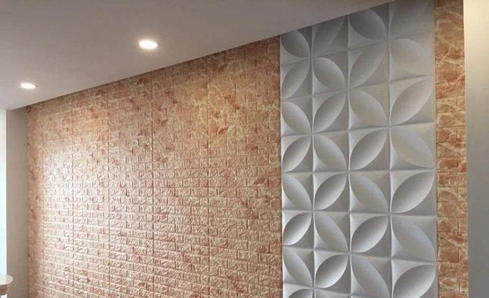 Thi công hoàn thiện giấy dán tường 3D tại nhà