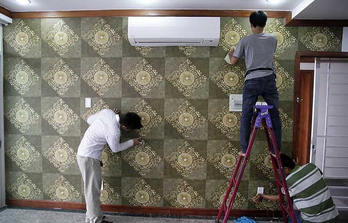 Kỹ thuật dán giấy dán tường lên tường